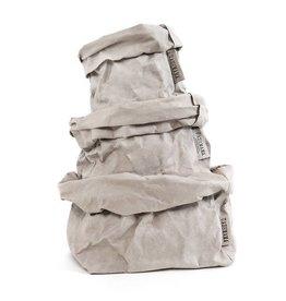 Uashmama Paperbag L Grijs