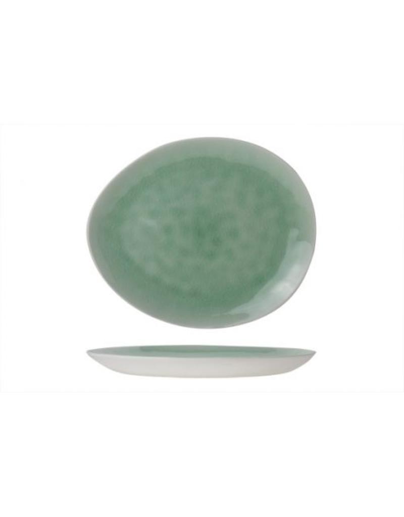 Cosy & Trendy Spirit Green ovaal  bord 27 x 23 cm