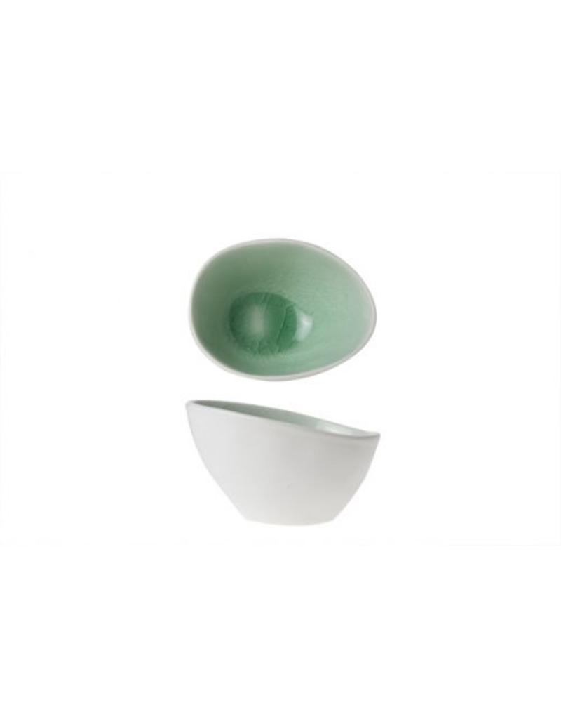 Cosy & Trendy Spirit Green ovaal kommetje 10.5x8cm