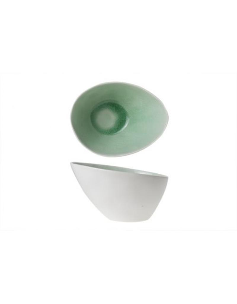 Cosy & Trendy Spirit Green schaaltje ovaal 15x11,5x8,5 cm