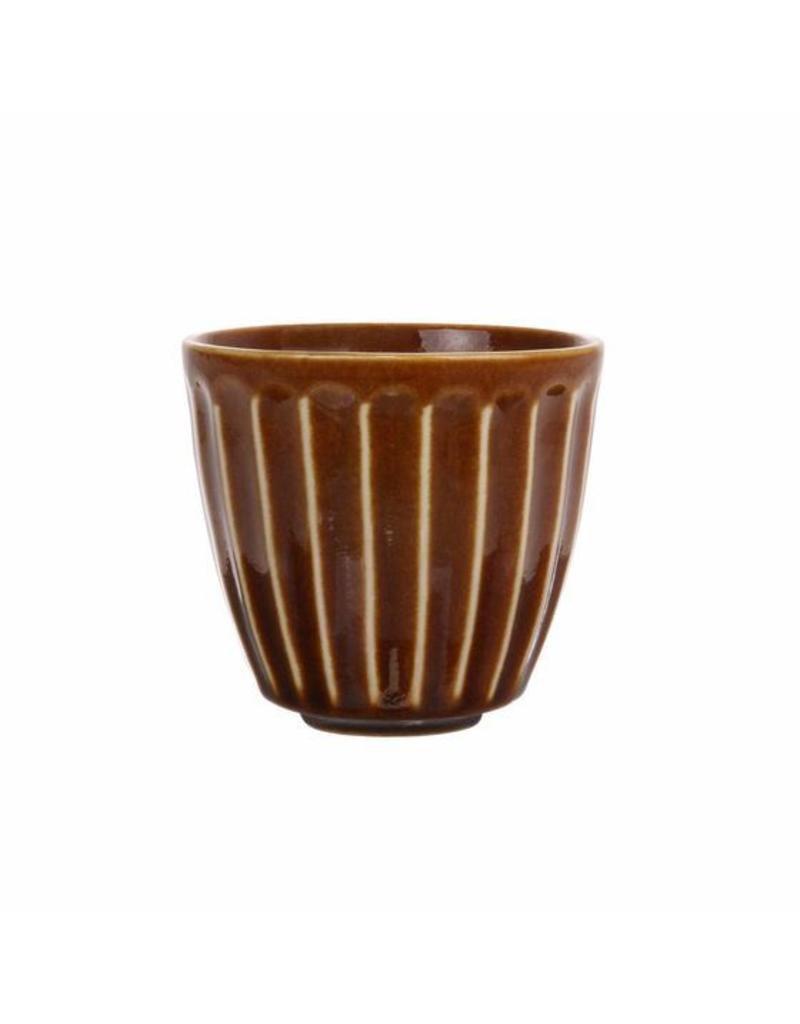 HK Living Mug of Kyoto brown striped