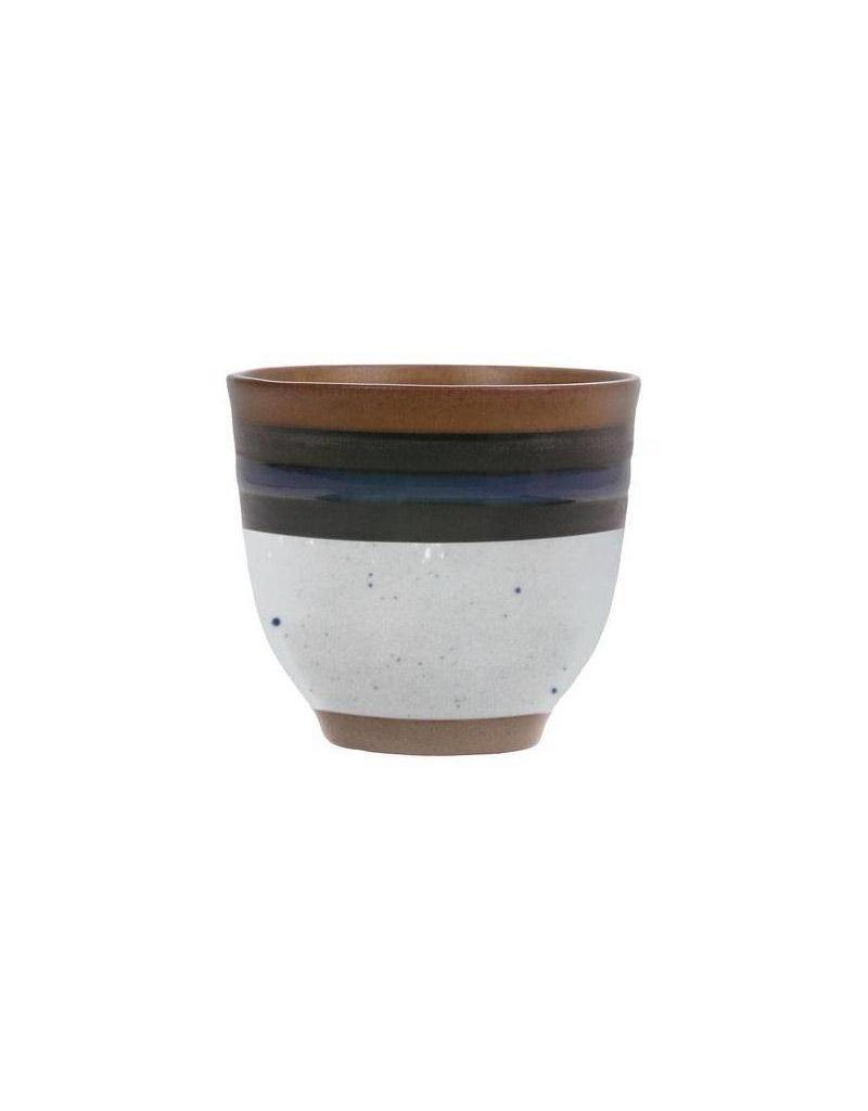 HK Living Mug of Kyoteo blue striped