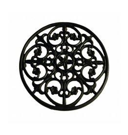 Kom Amsterdam Onderzetter gietijzer bruin rond 18 cm