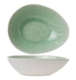 Cosy & Trendy Spirit Green schaal ovaal 17 x 20,5 cm