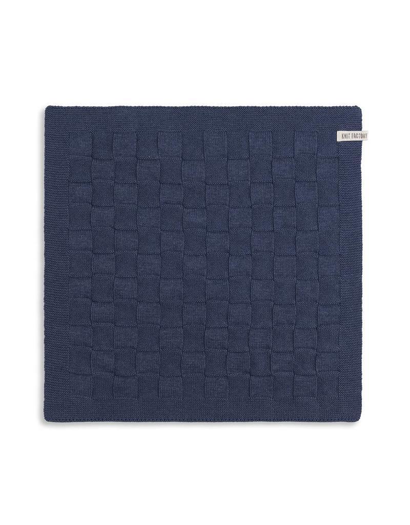 Knit Factory Keukendoek Jeans Uni