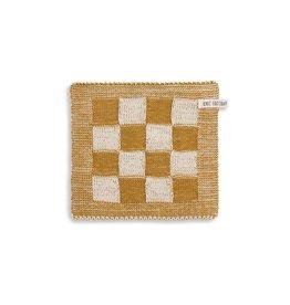 Knit Factory Pannenlap ecru/oker