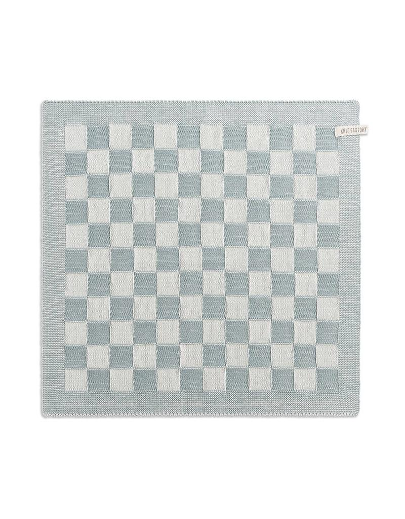Knit Factory Keukendoek Ecru / Stone green