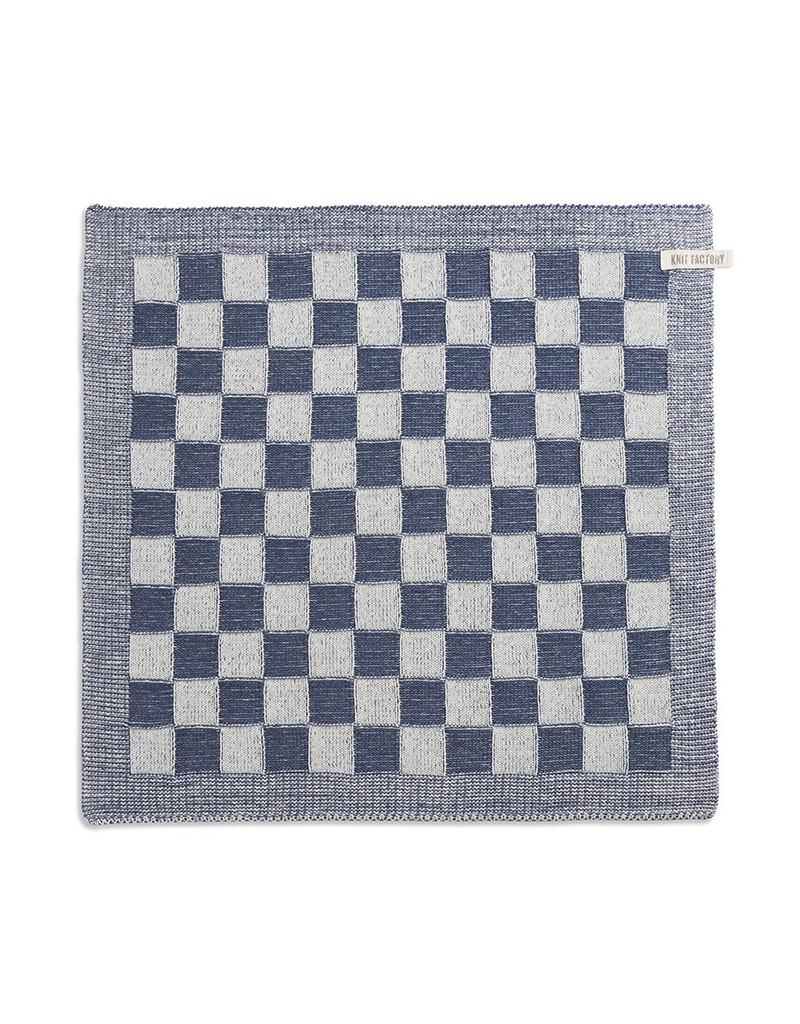 Knit Factory Keukendoek ecru/jeans