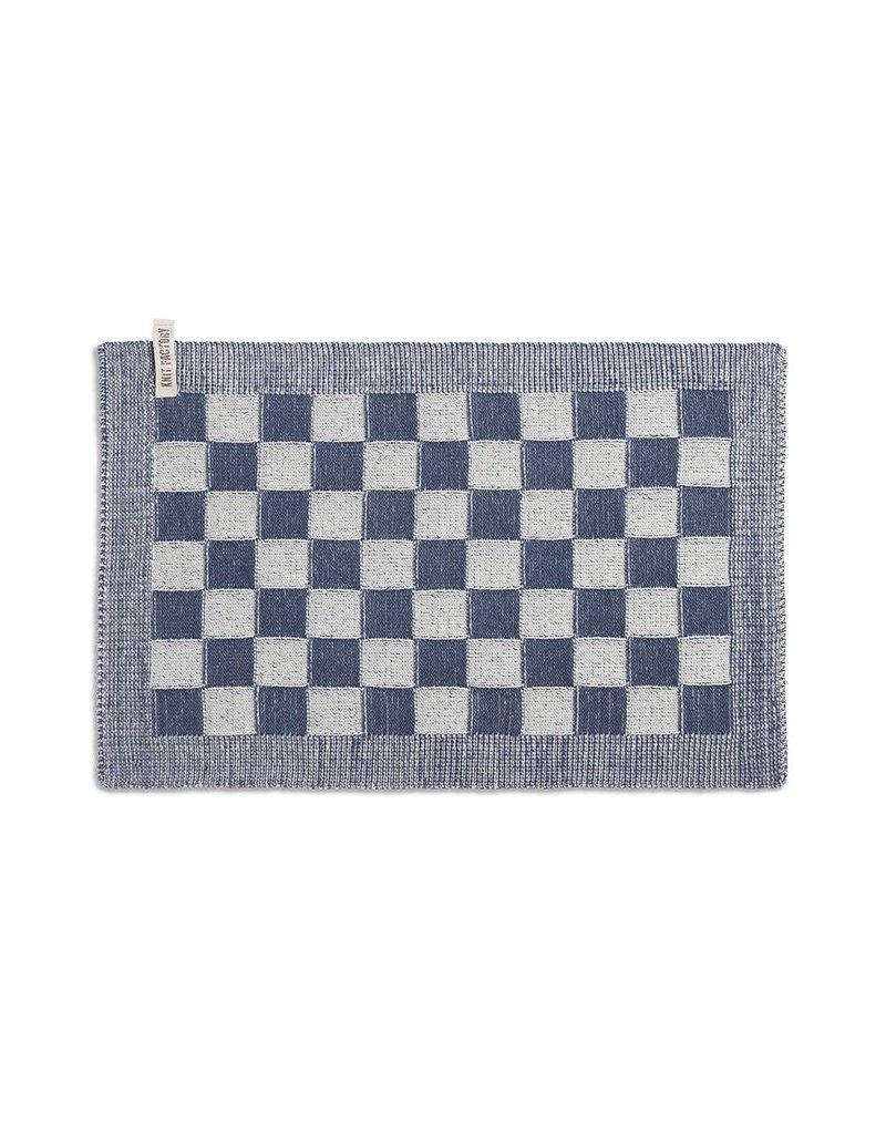 Knit Factory Gastendoek ecru/jeans