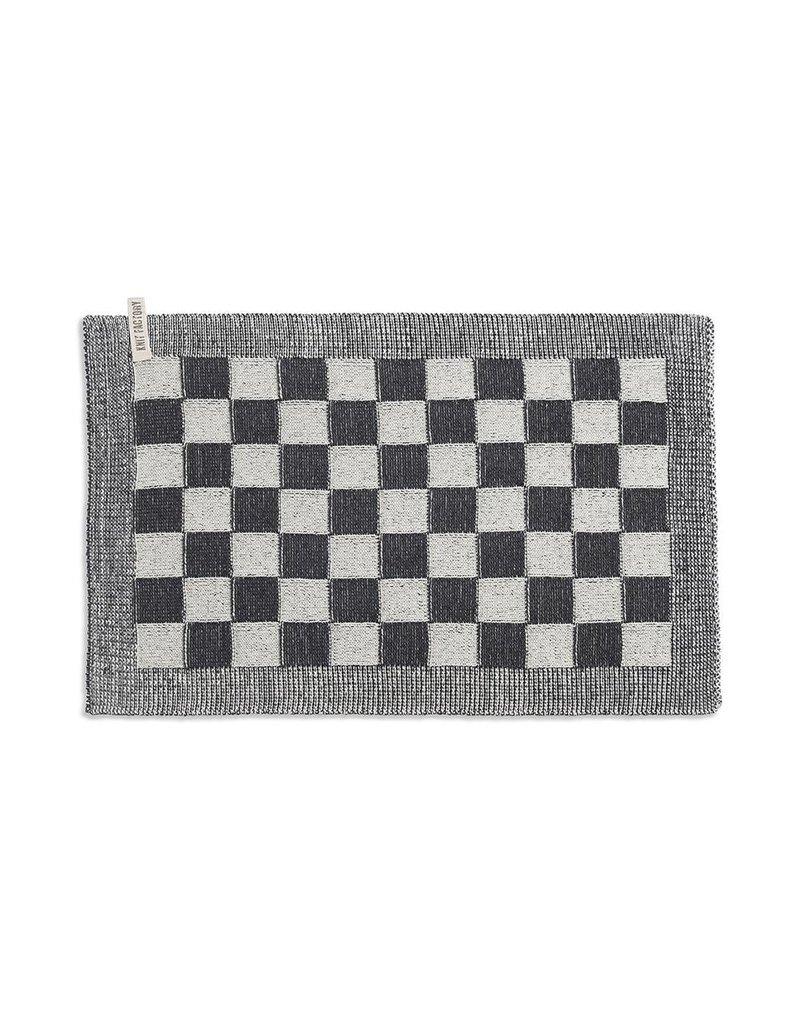 Knit Factory Gastendoek ecru/zwart