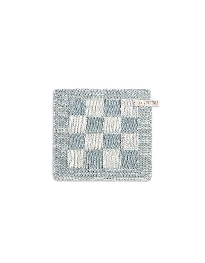 Knit Factory Pannenlap ecru stonegreen