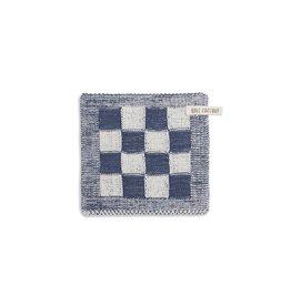 Knit Factory Pannenlap ecru/jeans