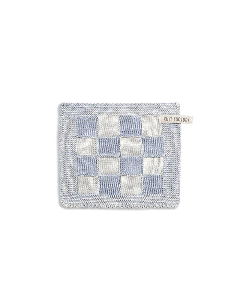 Knit Factory Pannenlap ecru/lichtgrijs