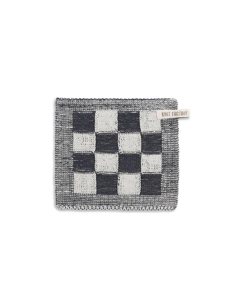 Knit Factory Pannenlap ecru/zwart