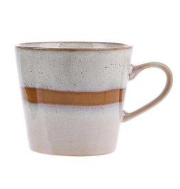 "HK Living 70's Cappuccino beker ""Snow"" HK Living"