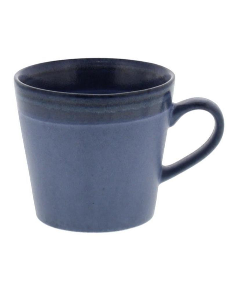 "HK Living 70's Cappuccino beker ""Blue"" HK Living"