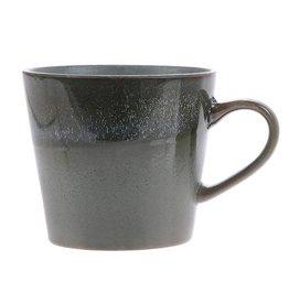 "HK Living 70's Cappuccino beker ""Moss"" HK Living"