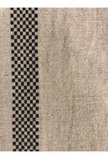 "Frans Linnen ""Zwart Ruit"" per 10 cm"