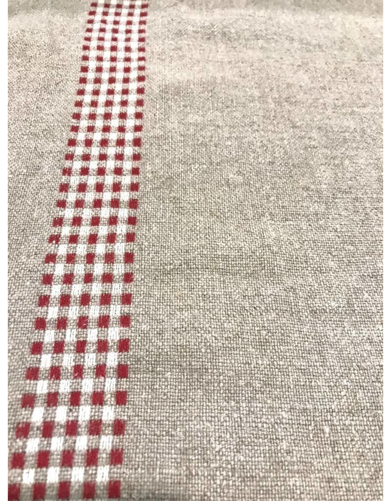 """Frans Linnen """"Rood Ruit""""  per 10 cm"""