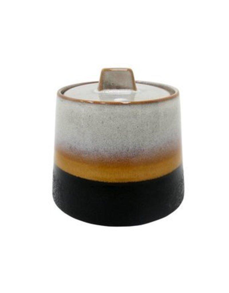 HK Living Ceramic 70's Suikerpot