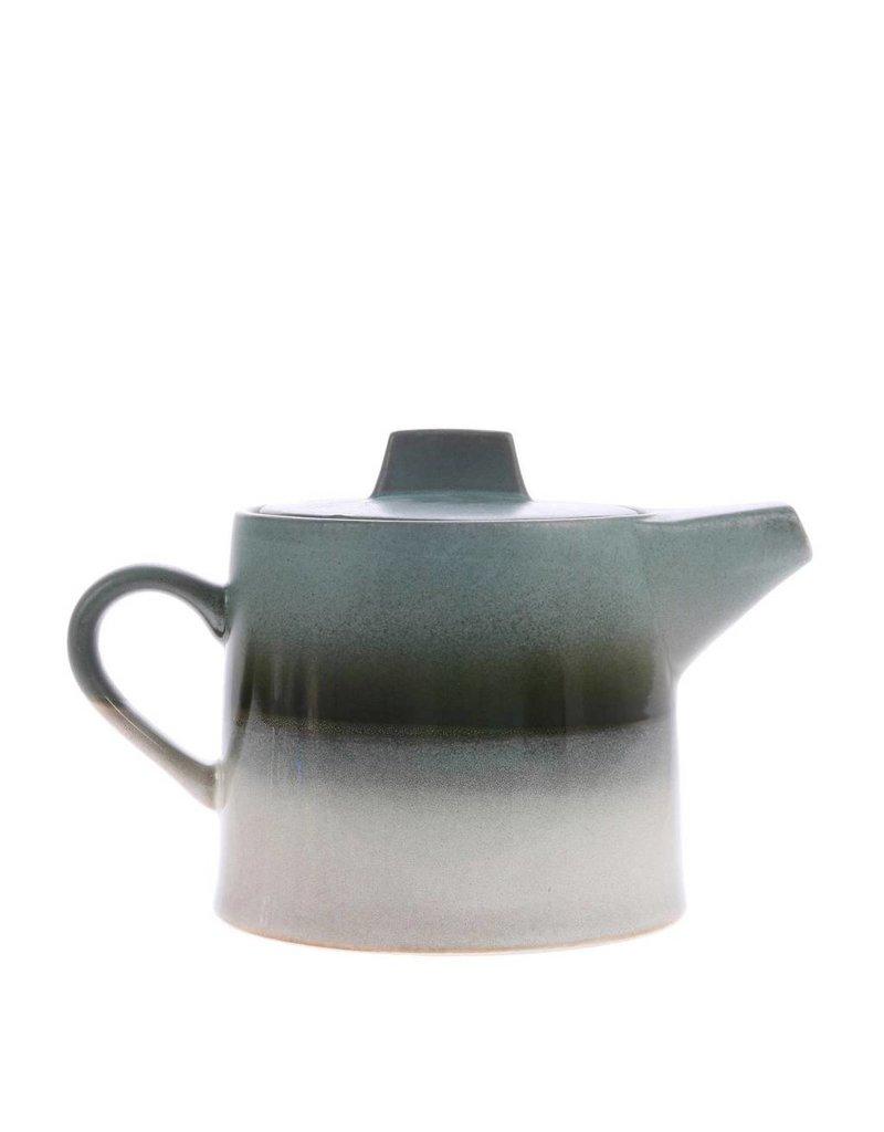HK Living Ceramic 70's Theepot Glacier 1,2 liter