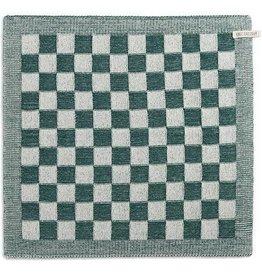 Knit Factory Keukendoek ecru/groen