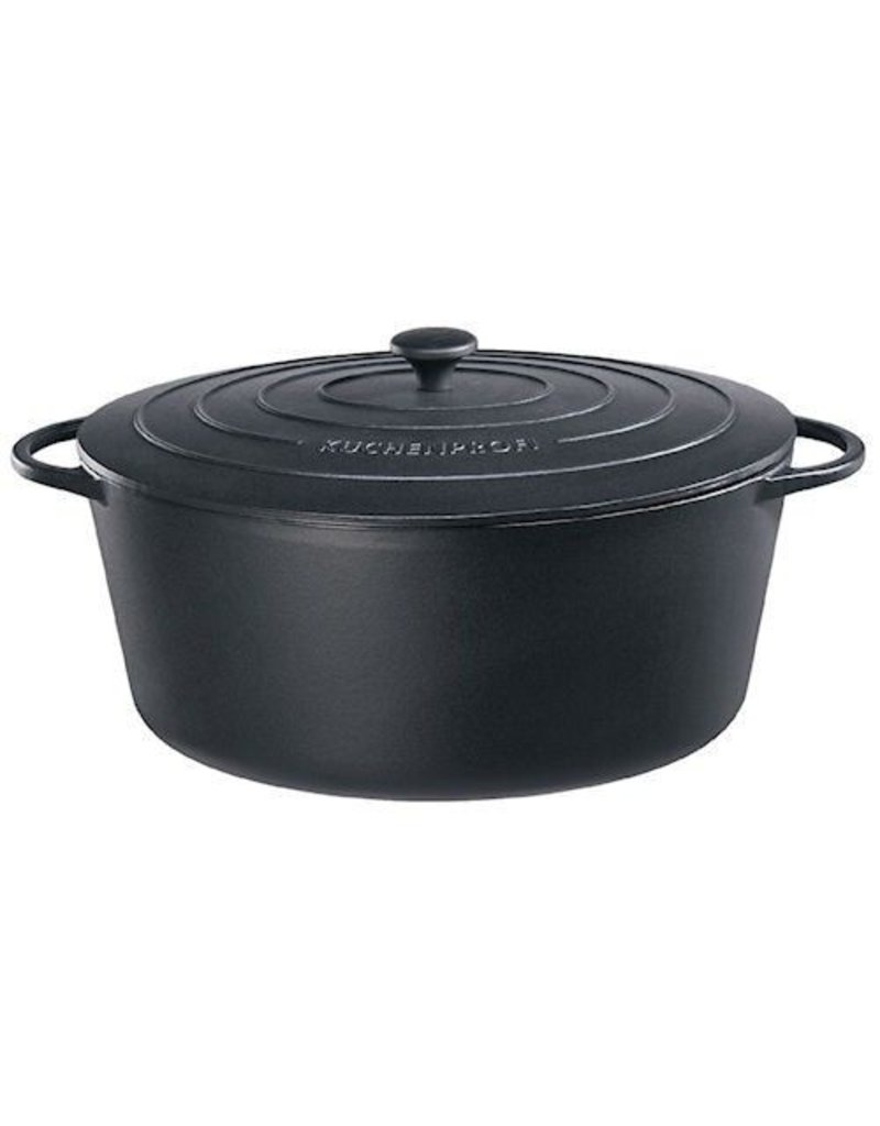 Küchenprofi Provence gietijzer ovaal 31 cm Zwart