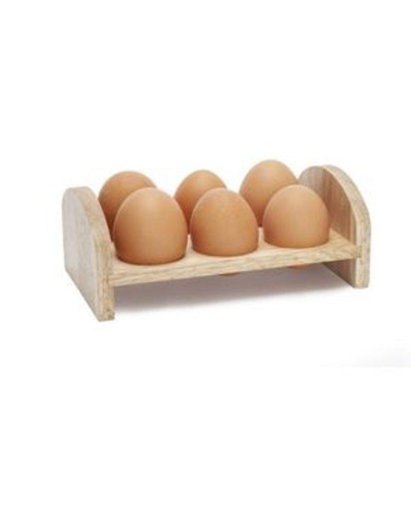 Cosy & Trendy Ei rekje voor 6 eieren hout