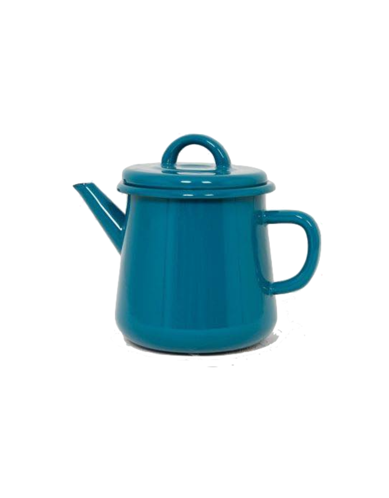 Emaille theepot nr3 Turquoise