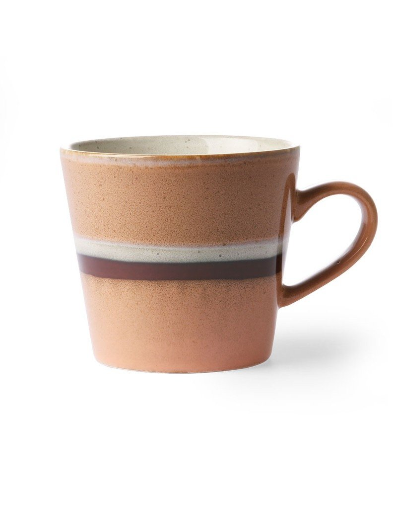 """HK Living 70's Cappuccino beker """"Stream"""" HK Living"""