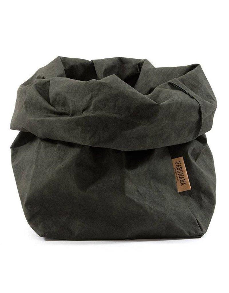 Uashmama Paperbag L Donkergroen