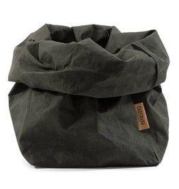 Uashmama Paperbag S Donkergroen