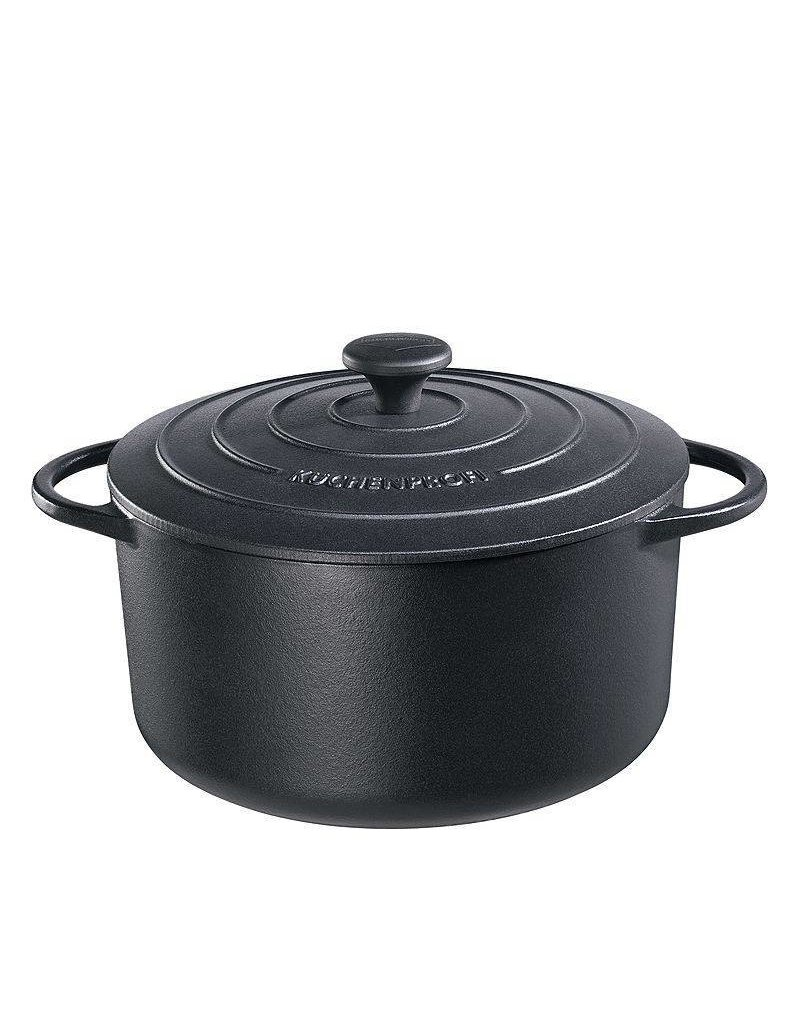 Küchenprofi Provence gietijzer pan rond 26 Zwart