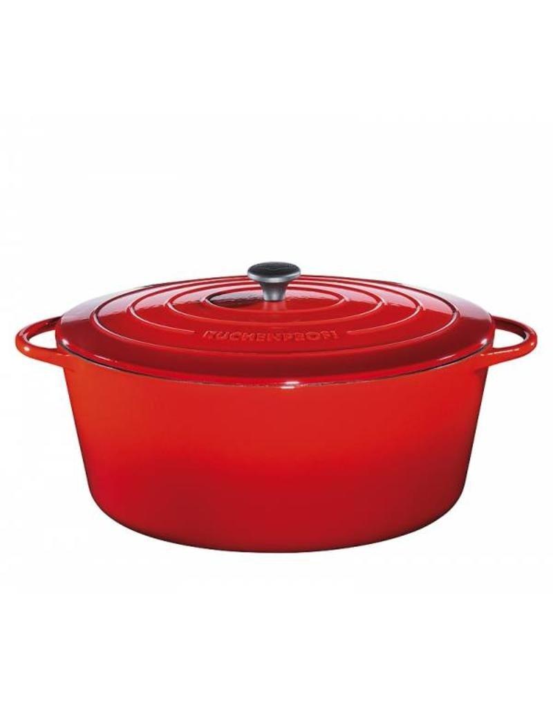 Küchenprofi Provence gietijzer pan ovaal 35 cm Rood