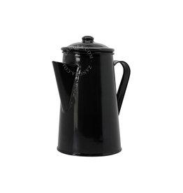 Zangra Zangra Emaille Koffiepot Zwart