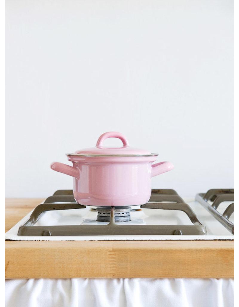 Riess Riess Emaille Kookpan Roze 16 cm 0.5 liter