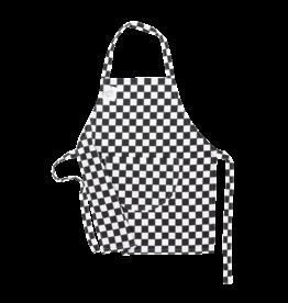 Inno Cuisino Schort Chef Kids Blok Zwart/Wit