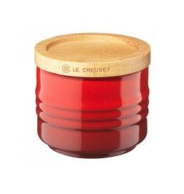 Le Creuset Suikerpotje Cerise met houten deksel 6cm