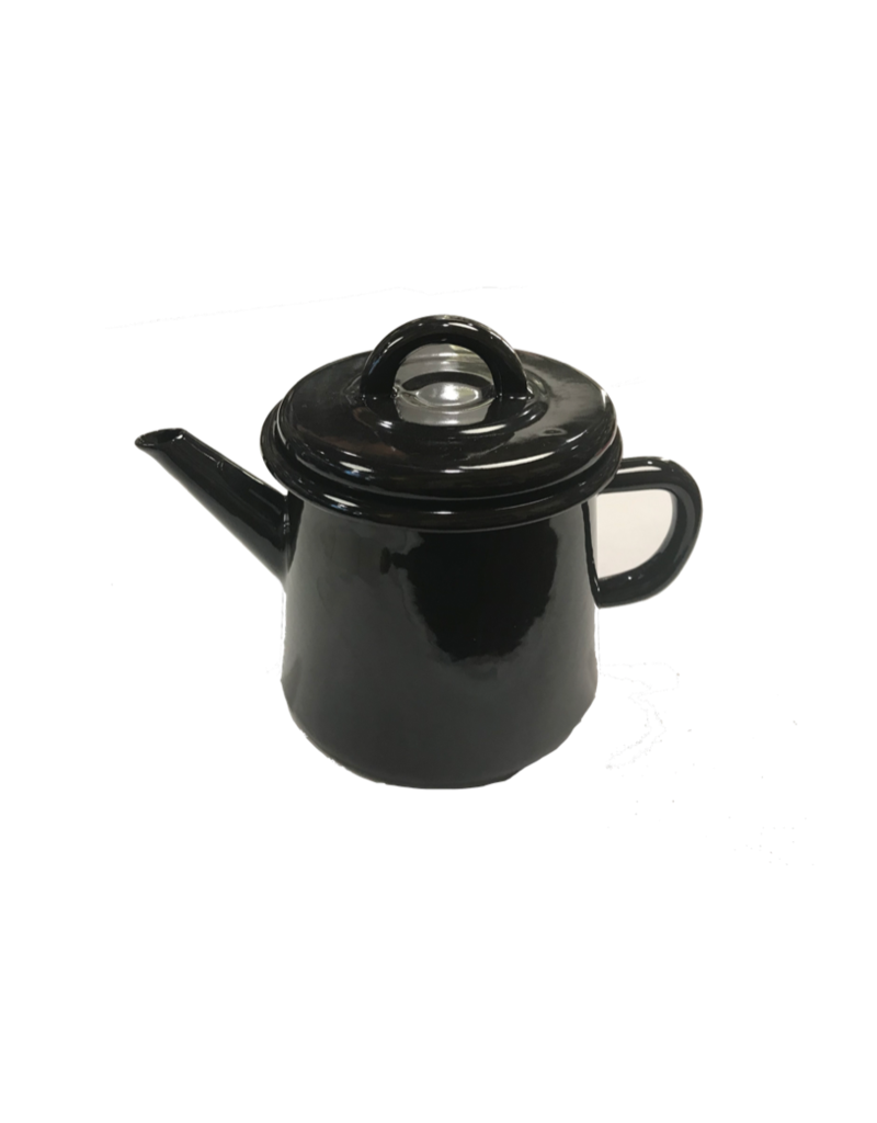 Emaille theepot nr2 Antraciet