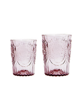 Van Verre Portugees glas klein Poeder Roze Fleur de Lys