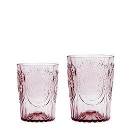 Van Verre Portugees glas groot Poeder Roze  Fleur de Lys
