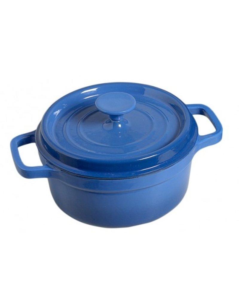Cosy & Trendy Bergerac Kookpot Blauw gietijzer 2 ltr 20 cm