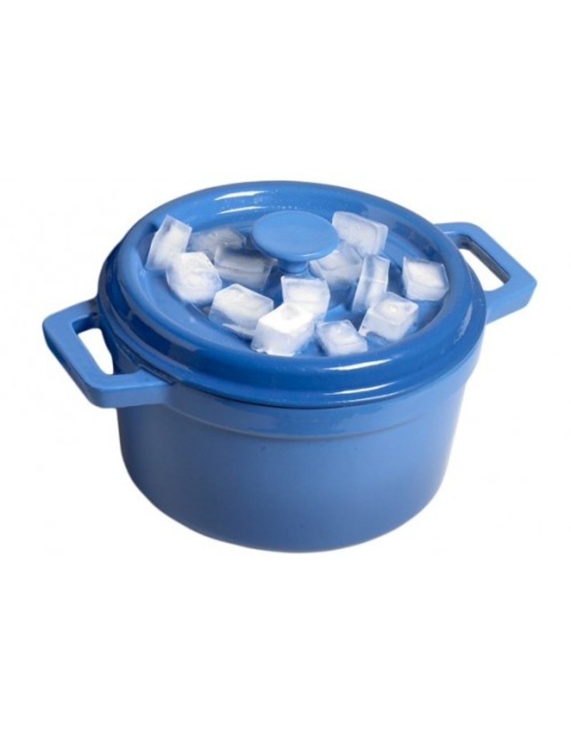 Cosy & Trendy Bergerac kookpot Blauw gietijzer 4,5 ltr 24 cm