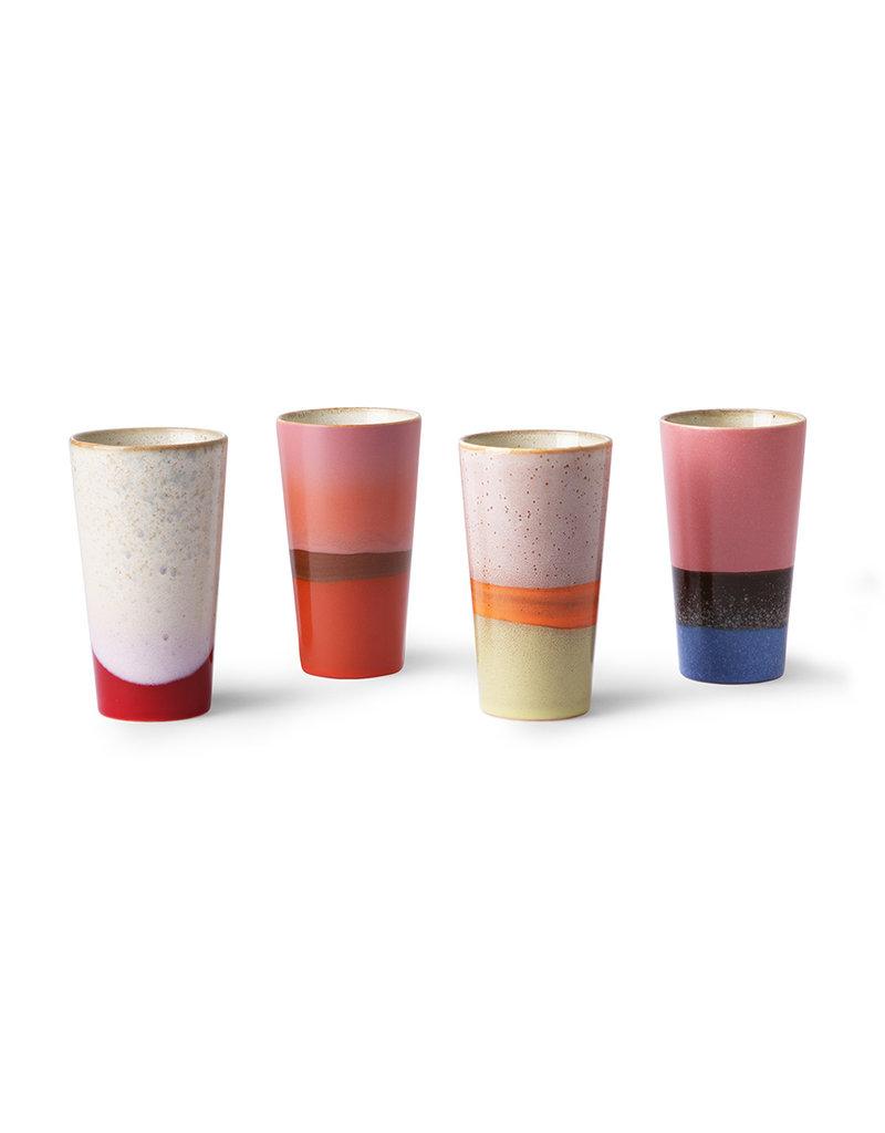 """HK Living 70's Latte mug """"Bleu/pink"""" HK Living"""