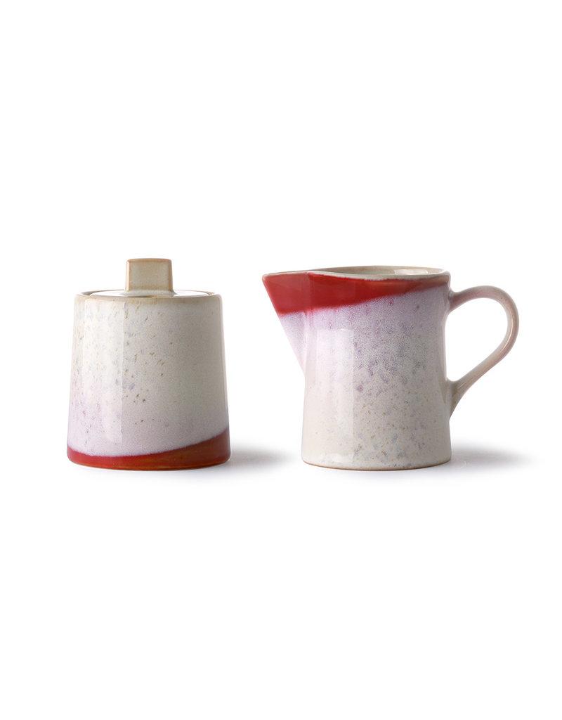 """Ceramic 70's Melk & Suikerpot """"Frost"""""""