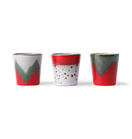 HK Living Ceramic 70's mokken The Christmas Th(r)ee