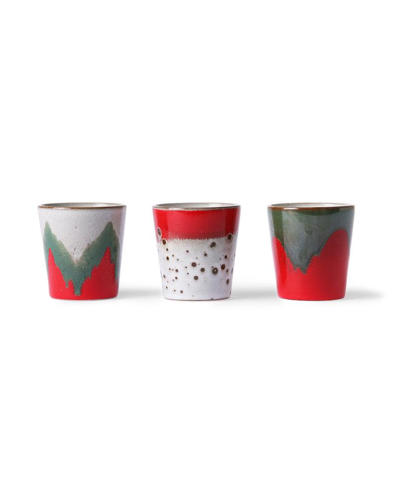 HK Living Ceramic 70's mokken The Christmas Th(r)ee
