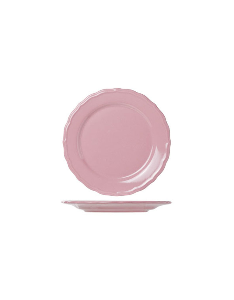 Bordje 21.6 cm oud roze