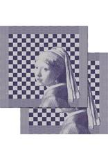 DDDDD theedoek girl with a pearl 60x65 blue