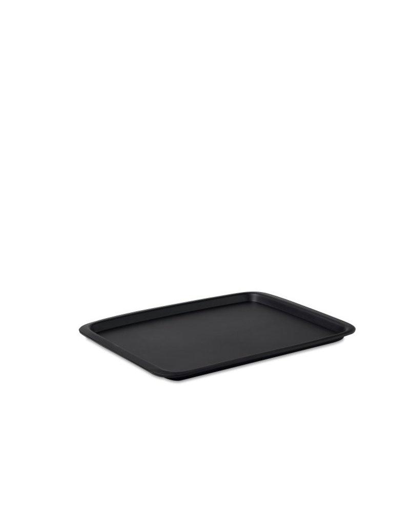 Dienblad rechthoekig 40x33 zwart